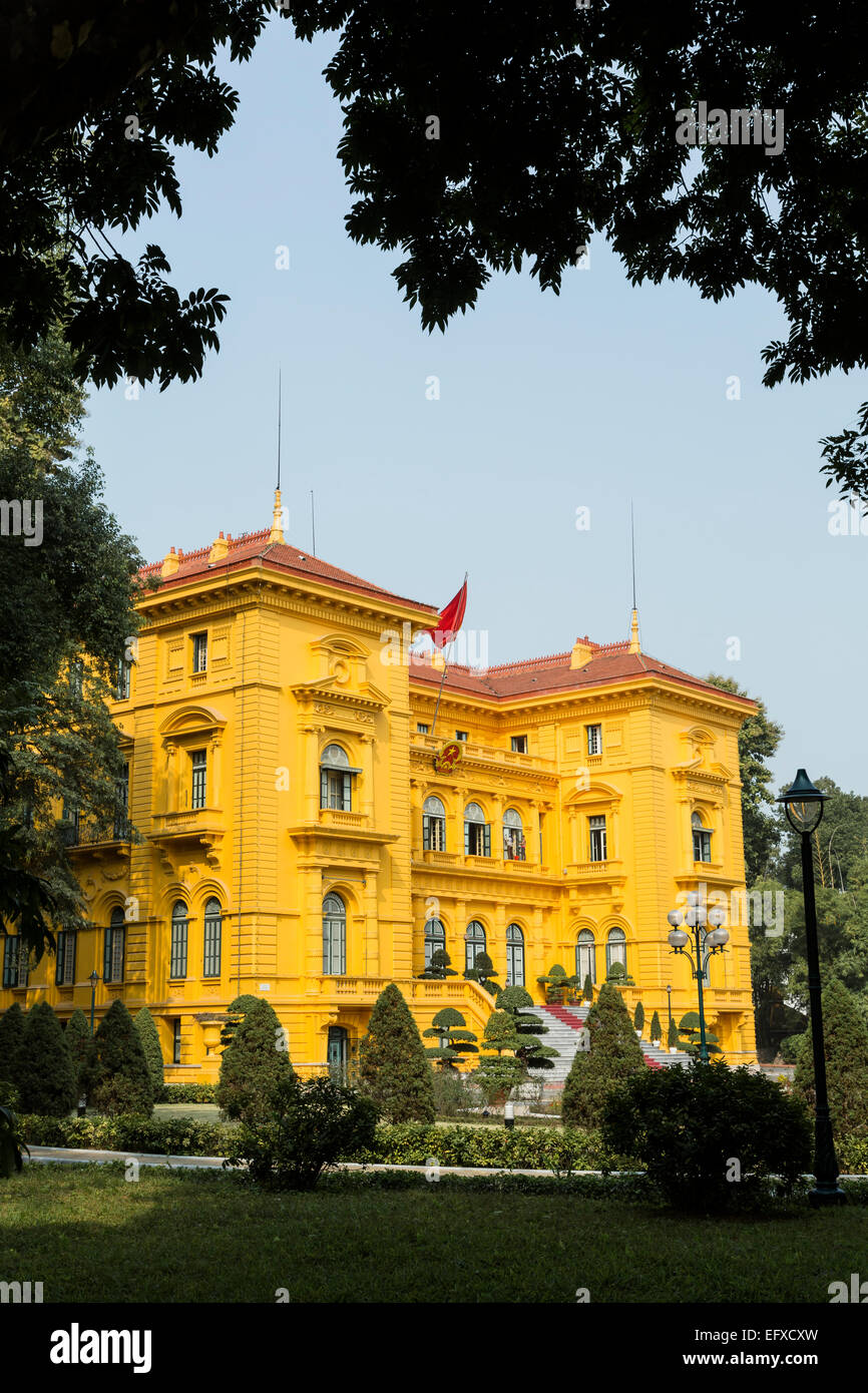 Presidential palace, Ho Chi Minh Mausoleum complex, Hanoi, Vietnam. - Stock Image