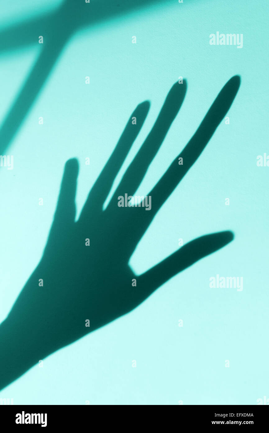 shadow of hand - Stock Image