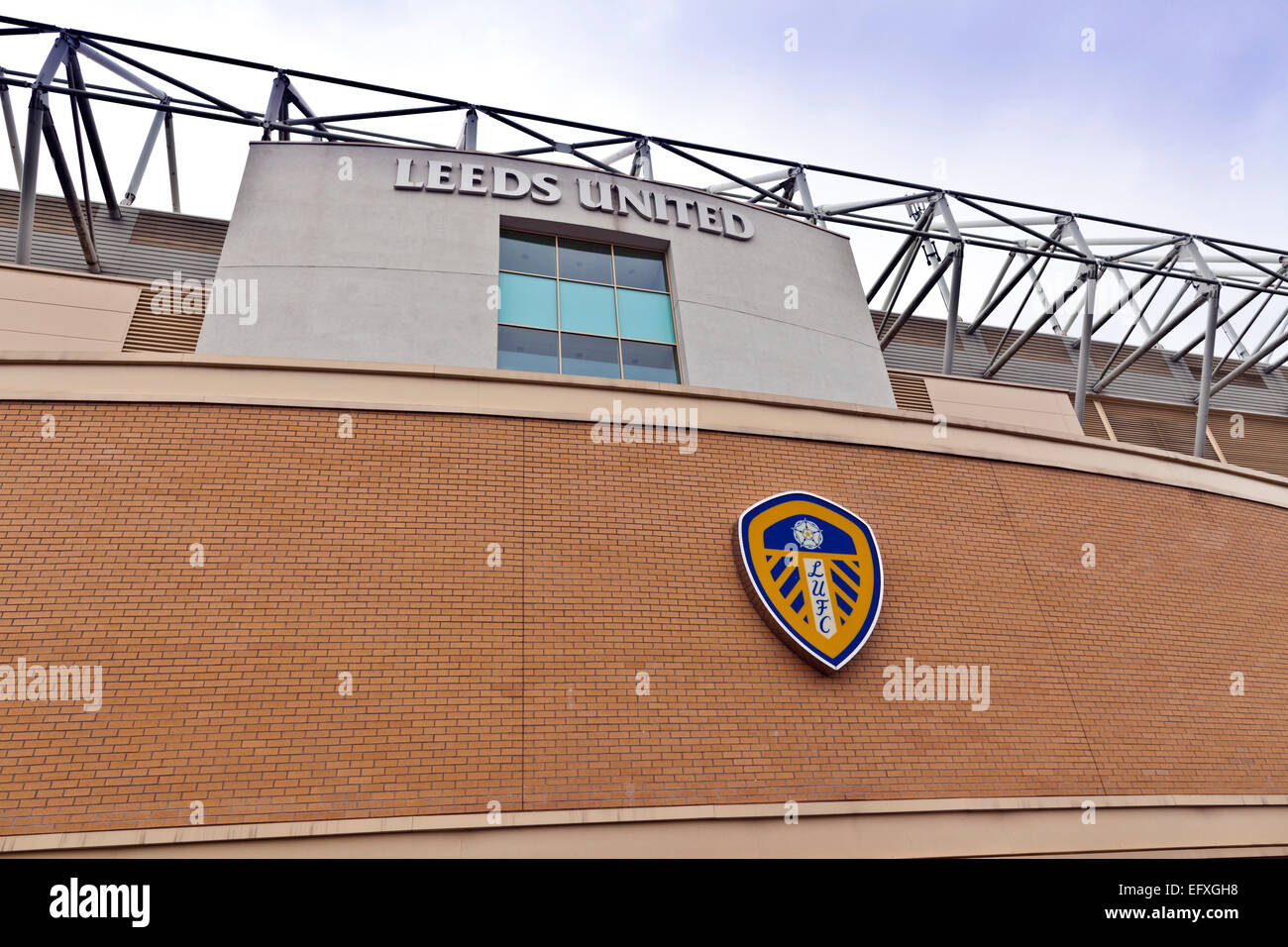 Elland Road stadium is home of Leeds United Football Club since 1919 following the disbanding of Leeds City F.C. - Stock Image
