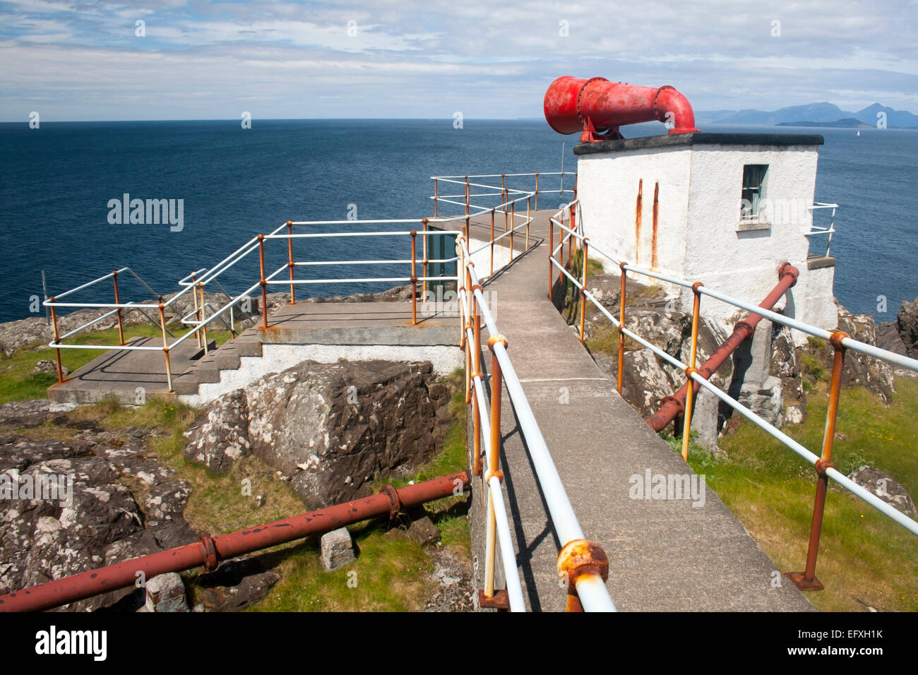 Ardnamurchan Point Fog Horn Scotland - Stock Image