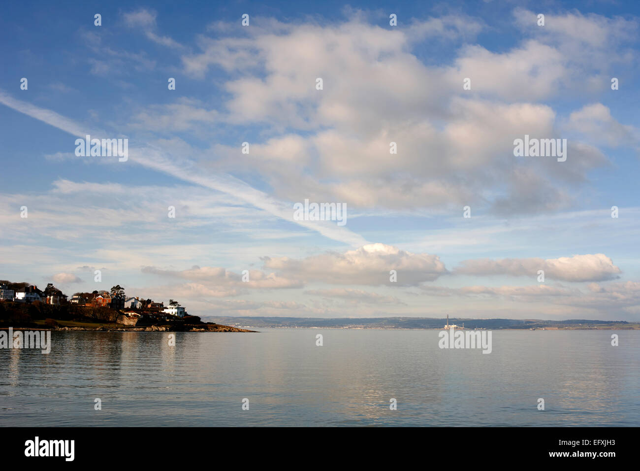 belfast lough foreshore at pickie bangor Northern Ireland - Stock Image