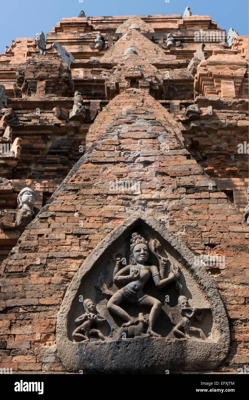 Vietnam, Nha Trang, Po Nagar Cham tower carving - Stock Image