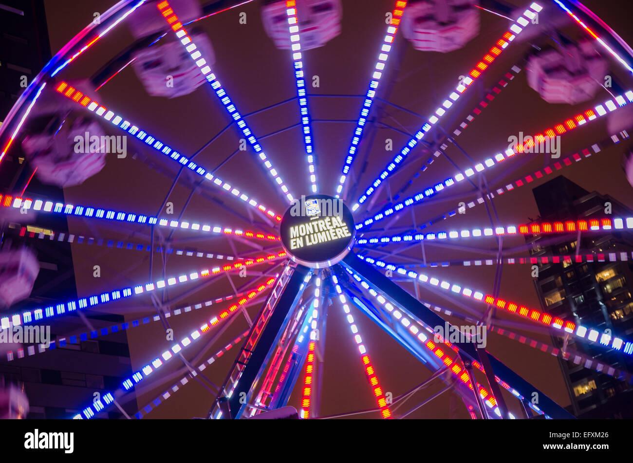 Ferris Wheel during Montreal en Lumière Festival, in 2012 Stock Photo