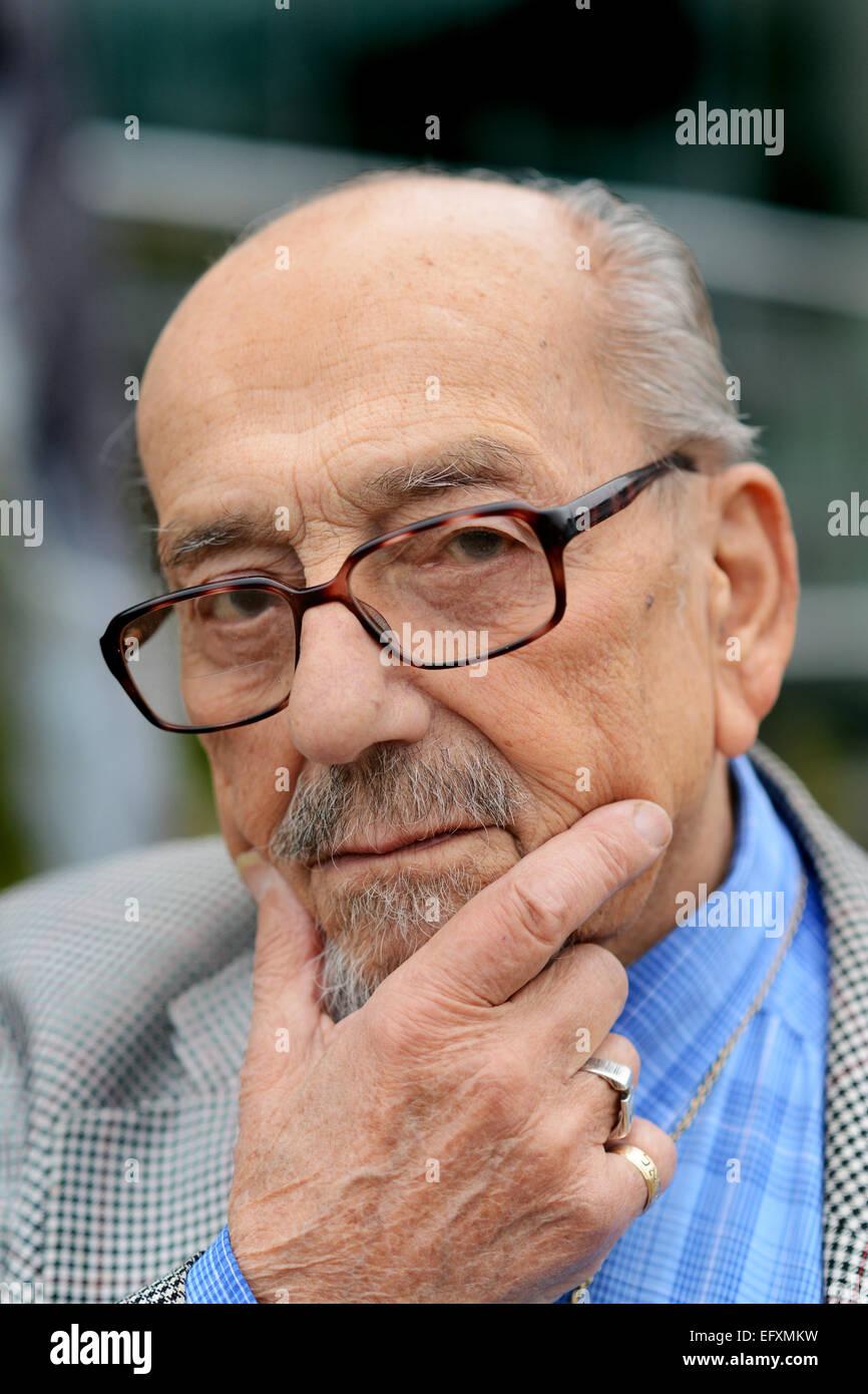 Holocaust survivor Harry Bibring - Stock Image