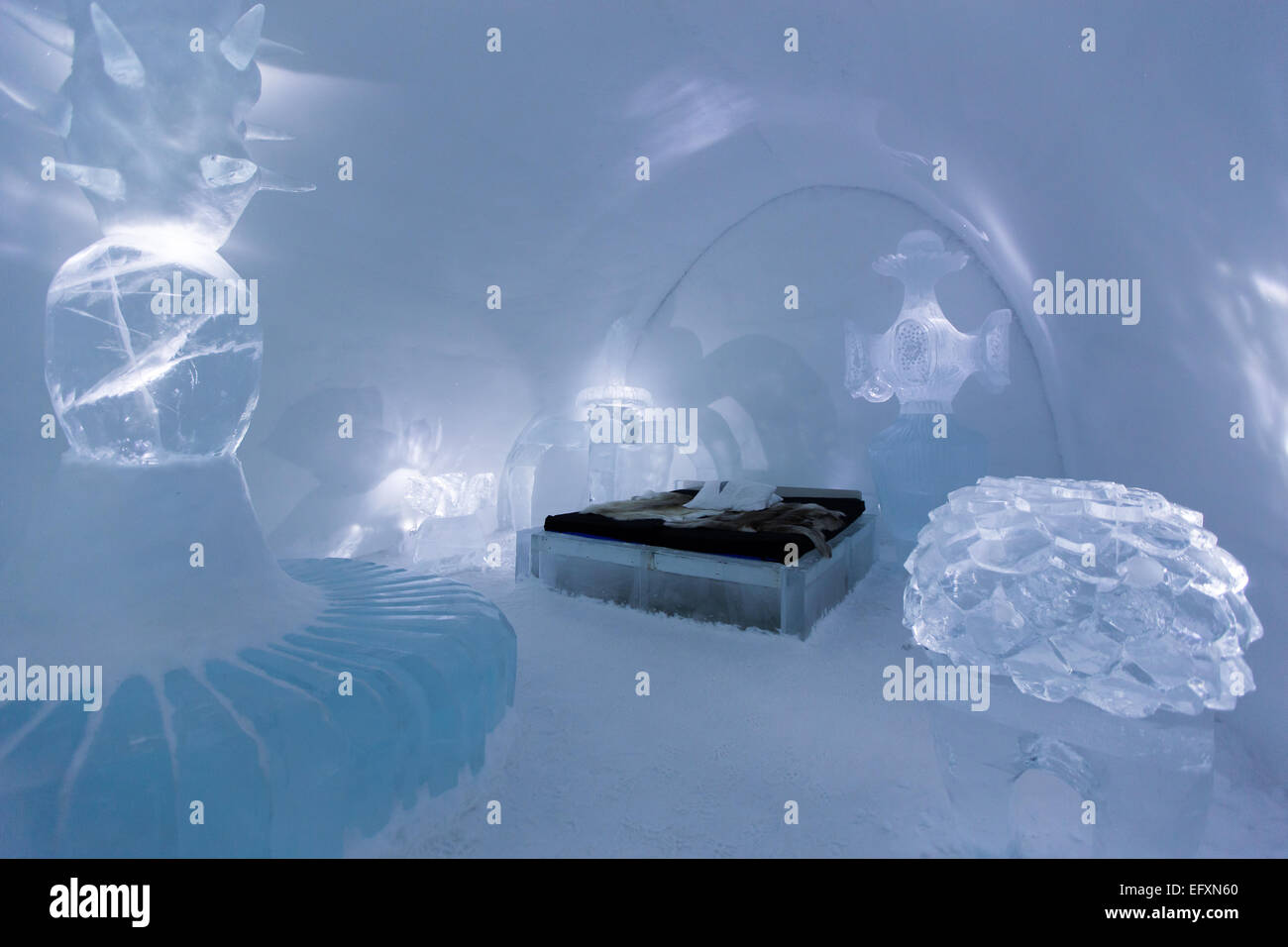 Ice Hotel in Northern Sweden - Stock Image