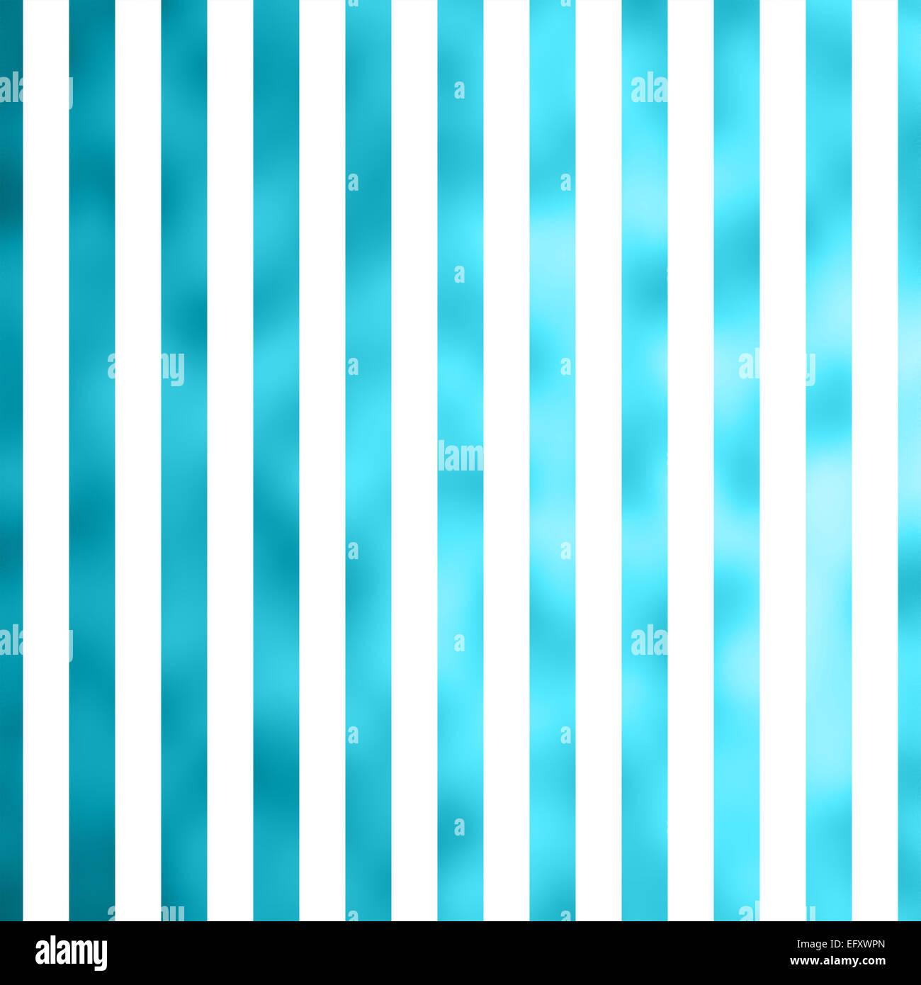 teal blue aqua turquoise white metallic faux foil stripes