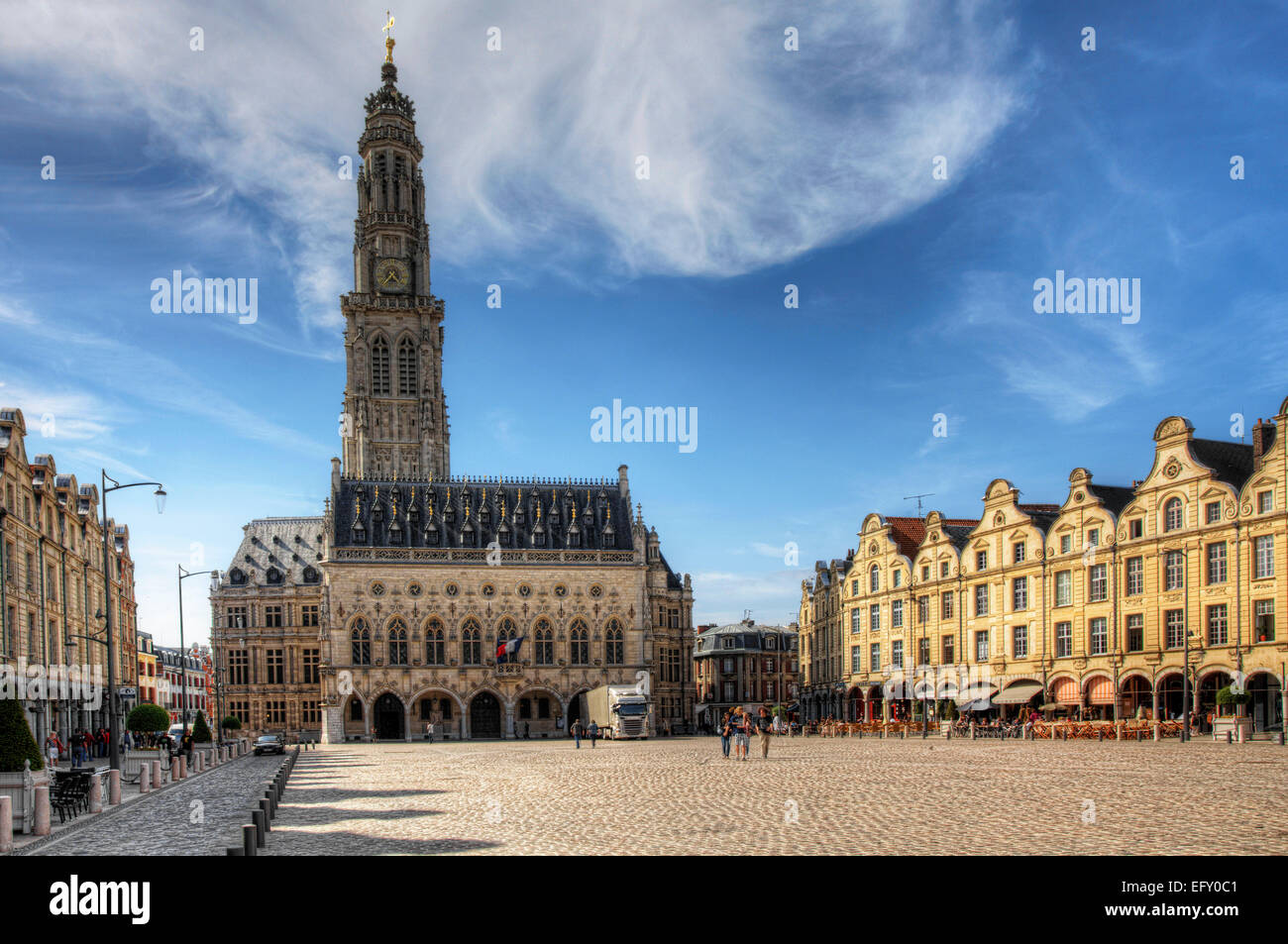 The Place des Heros in Arras, France - Stock Image