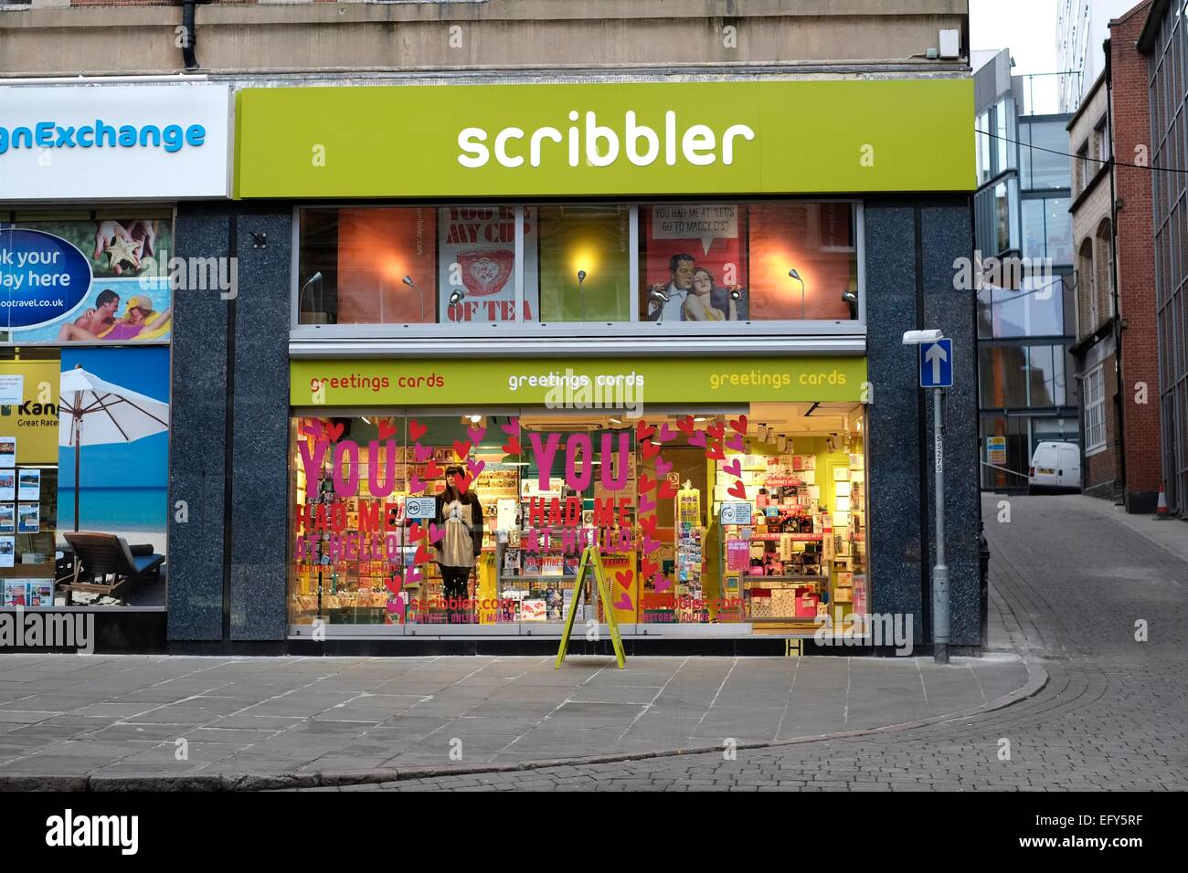 Scribbler Greeting Card Shop Nottingham England Uk Stock Photo