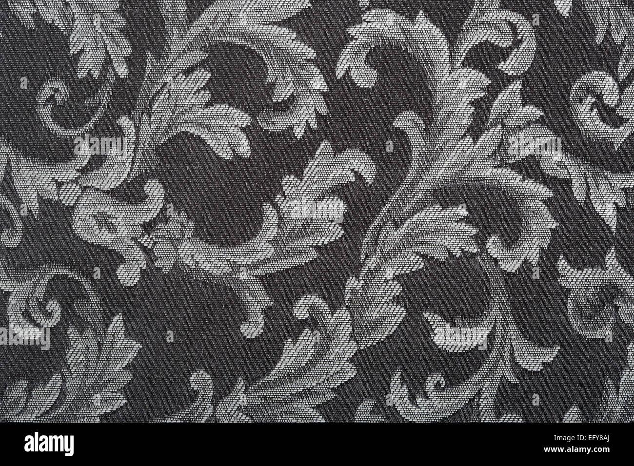 Damask Black Fabric Pattern Texture Background
