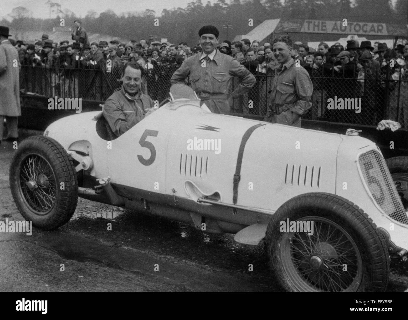 Maserati -Straight 8cm 2.9 1934 at Brooklands International Trophy, which he won. Whitney Straight driving, Ramponi - Stock Image