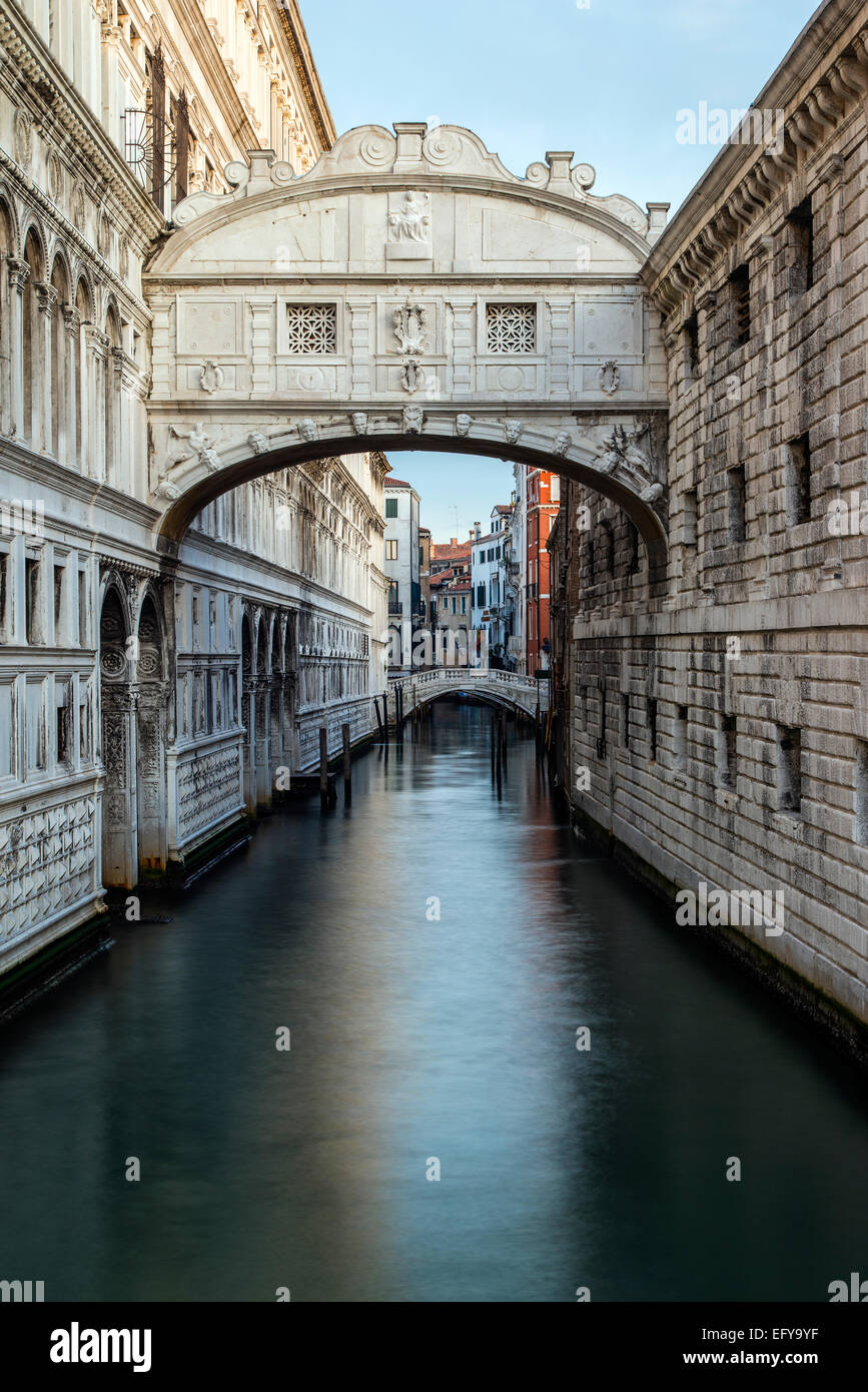 Bridge of Sighs or Ponte dei Sospiri, Venice, Veneto, Italy Stock Photo