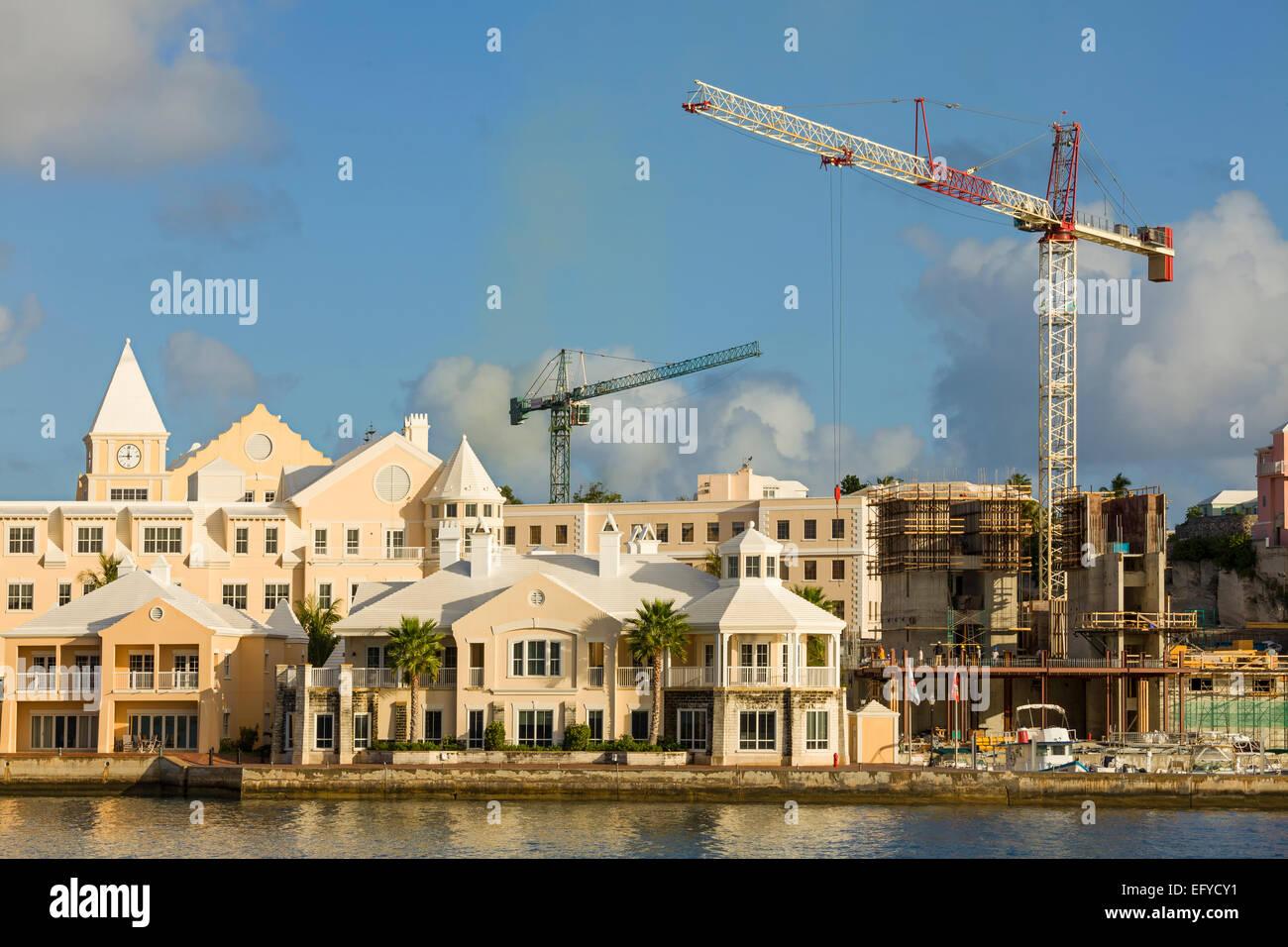 Construction On The Waterfront Of Hamilton Bermuda Stock Photo Alamy