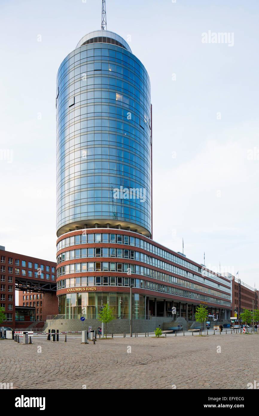 Teasing, HTC, office building on the Kehrwieder, Speicherstadt, HafenCity, Hamburg, Germany - Stock Image