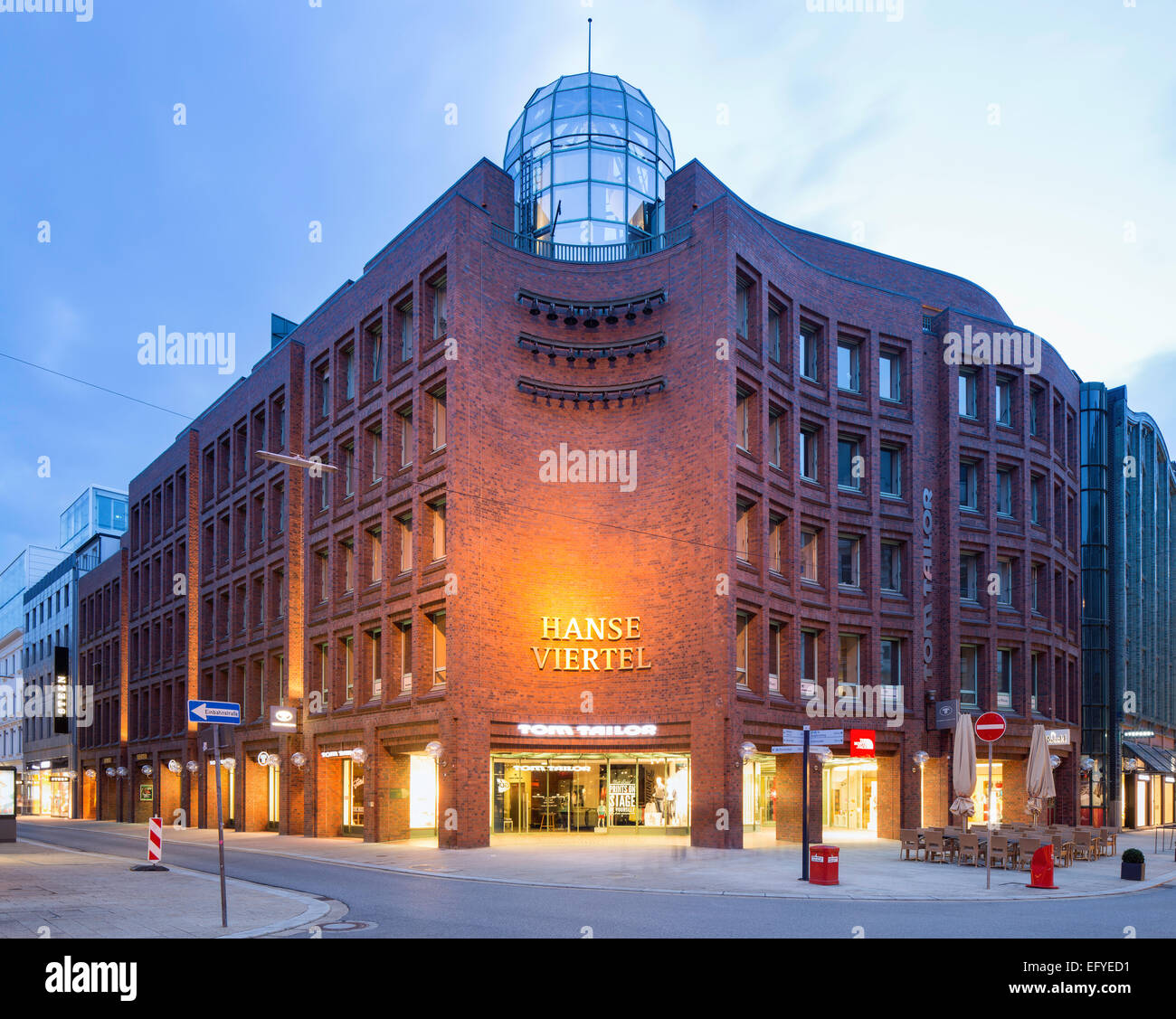 Shopping arcade Hanse-Viertel, office and commercial building, Hamburg, Germany - Stock Image