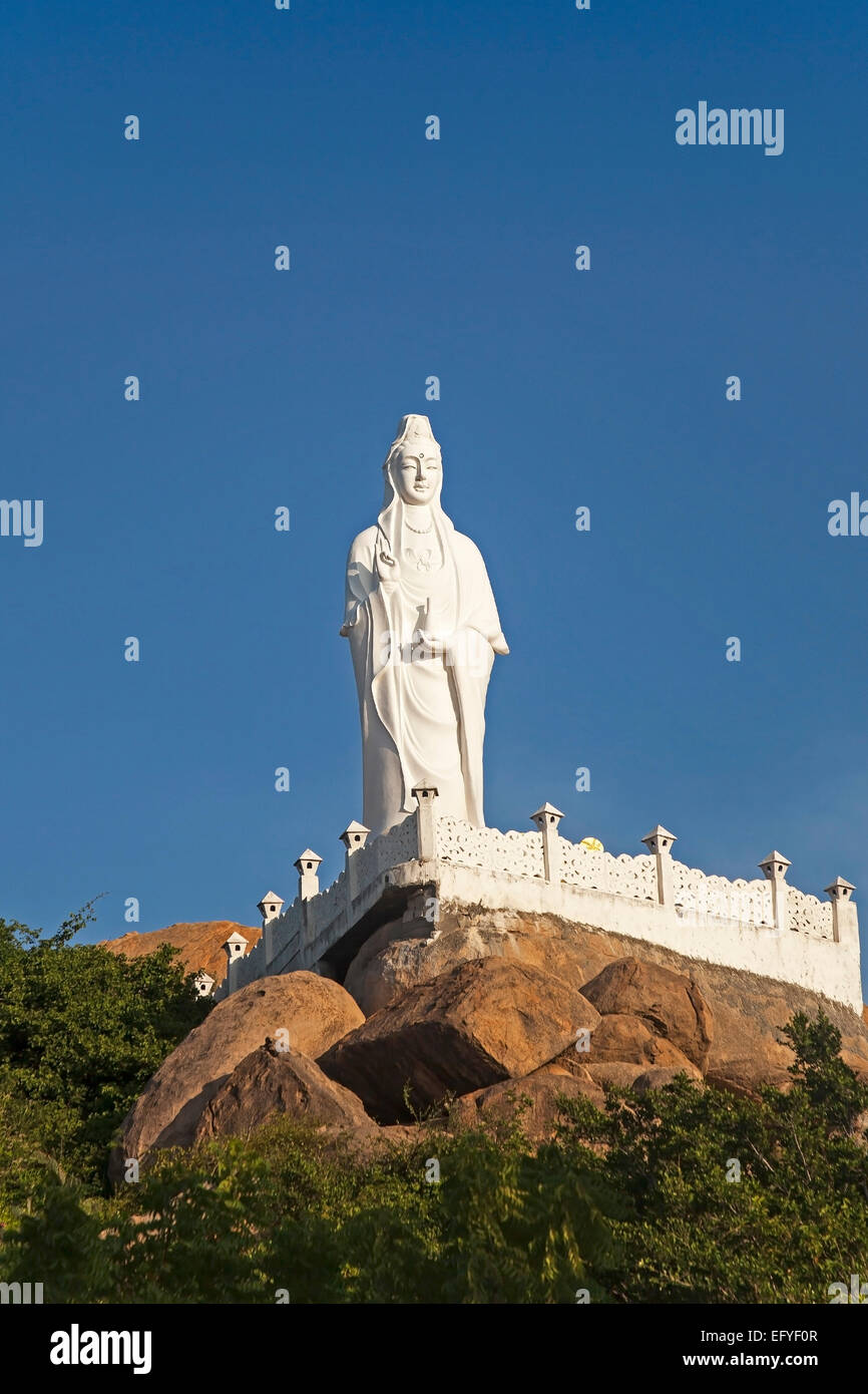 Buddha statue, Thien Vien Truc Lam Pagoda, Phan Rang, Ninh Thuan, Vietnam - Stock Image
