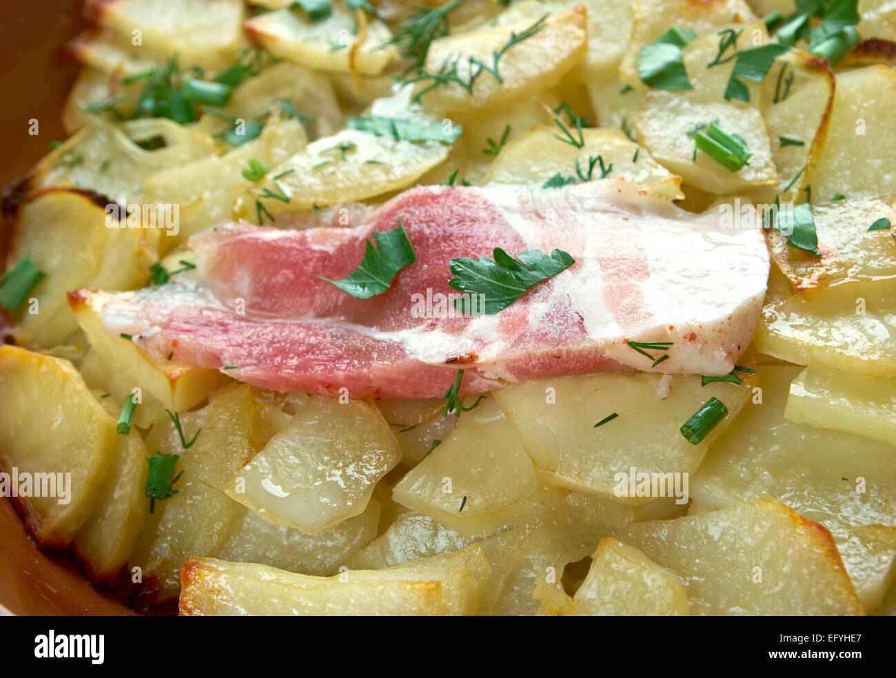 Panackelty -  casseroled dish, traditional throughout the northeast of England potato stew - Stock Image