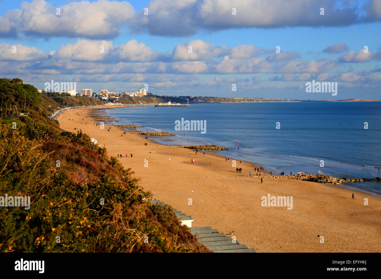 Branksome beach Poole Dorset England UK near to Bournemouth known for beautiful sandy beaches Stock Photo