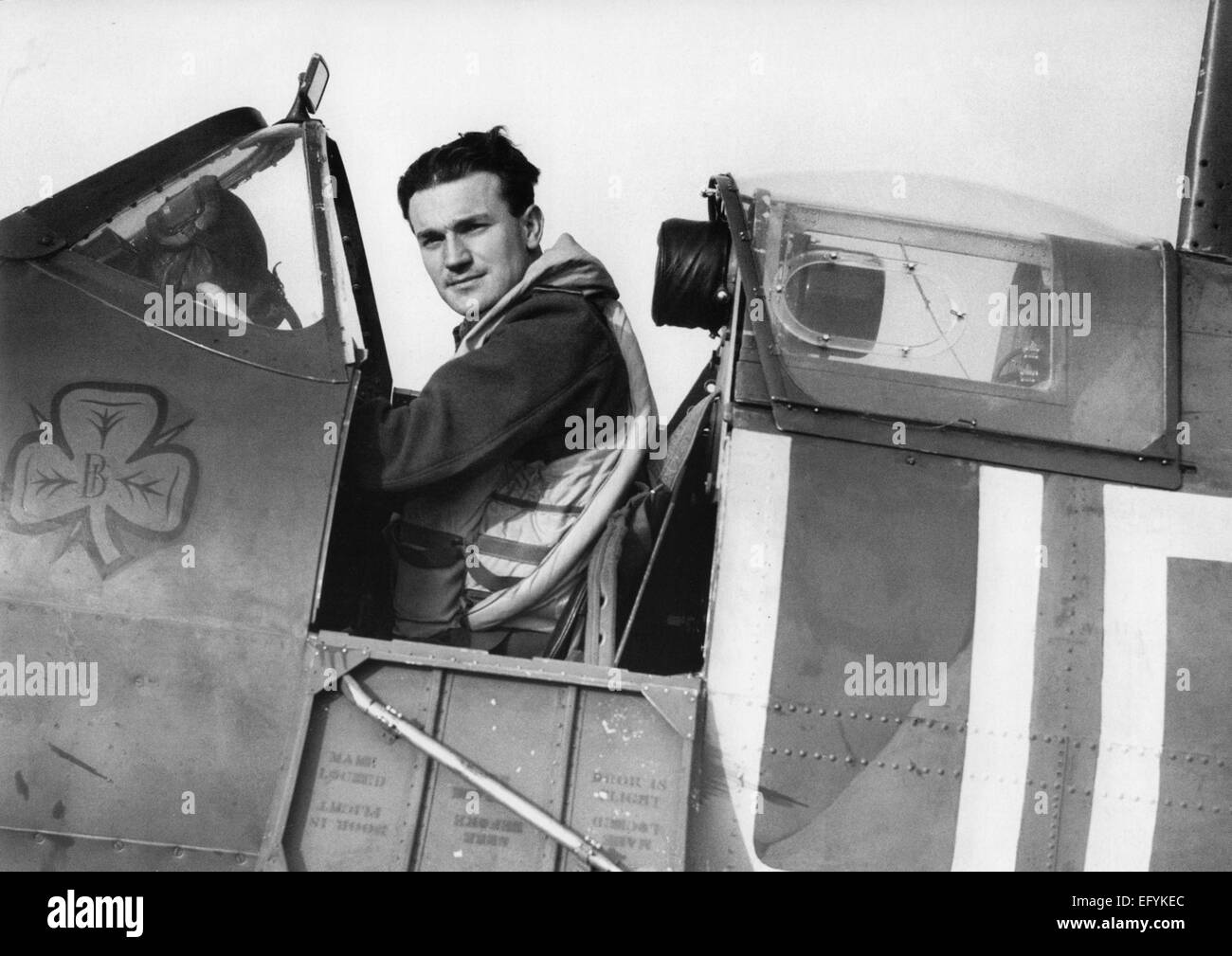 BRENDAN 'PADDY' FINUCANE (1920-1942)  Irish-born RAF ace fighter pilot while flying with No 452 Squadron. - Stock Image