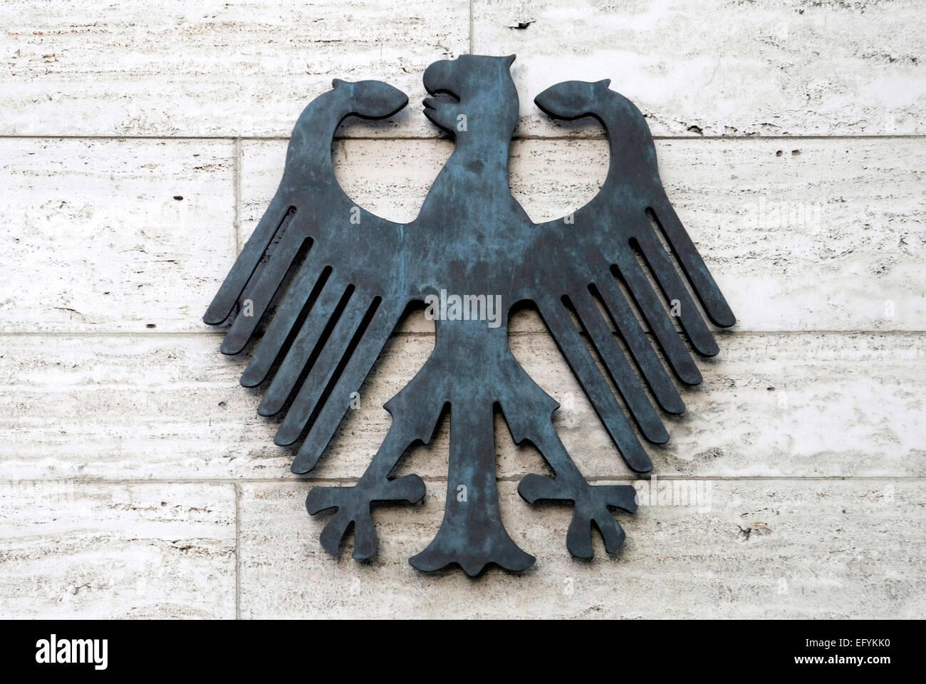 Federation eagle at the receipt of the Foreign Office of the Federal Republic of Germany on the Werderschen Markt - Stock Image