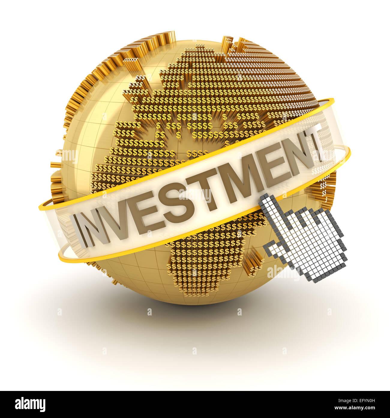 Global investment concept, Europe region, 3d render - Stock Image