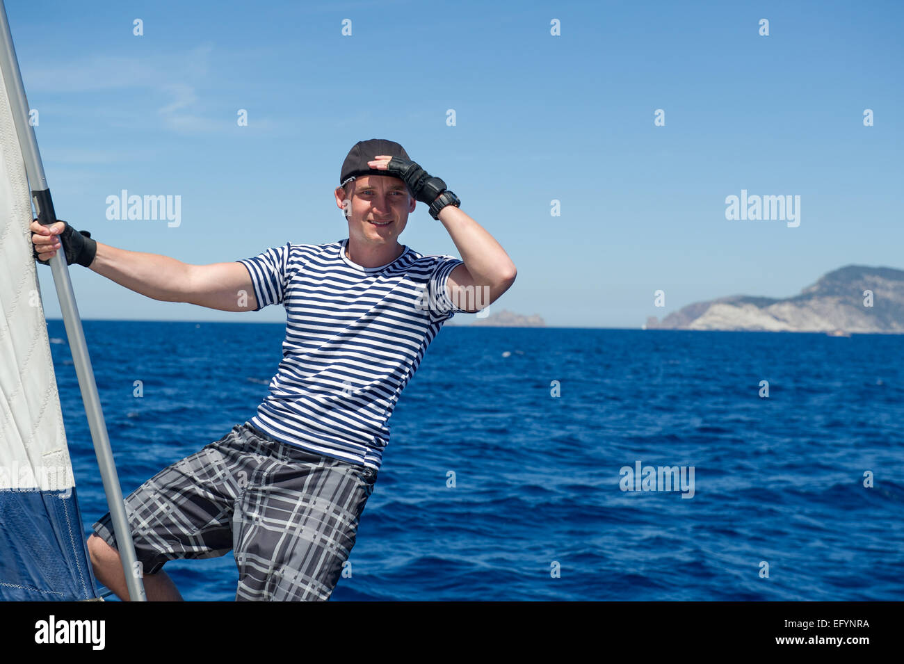 Happy sailor - Stock Image