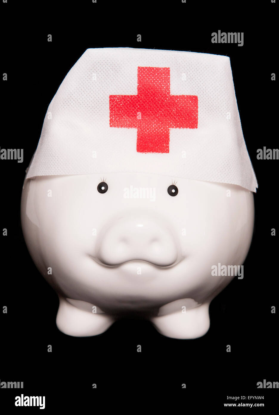spending money on health care cutout - Stock Image