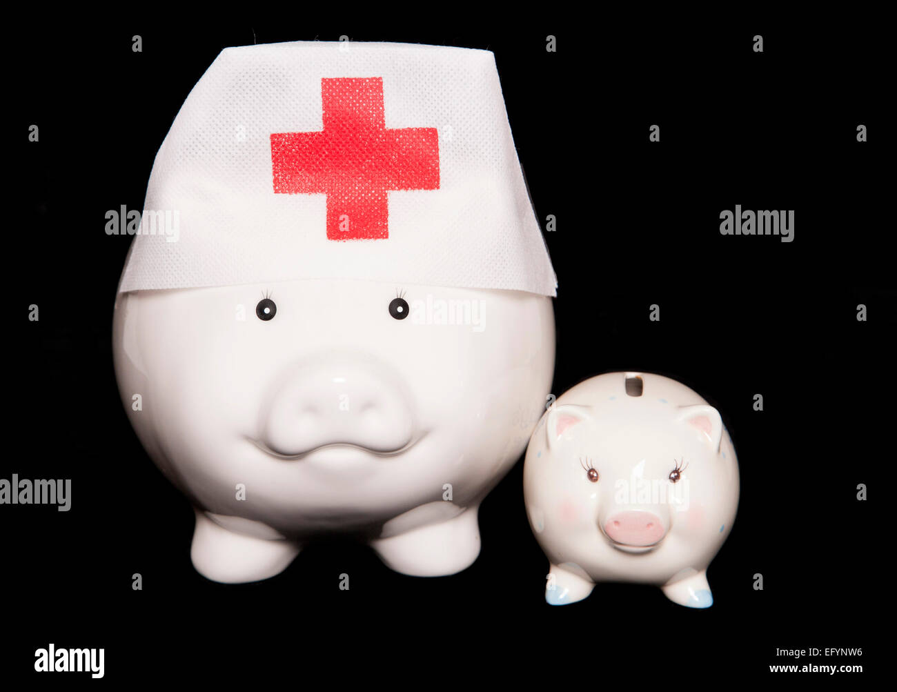 spending money on health care for next generation cutout - Stock Image