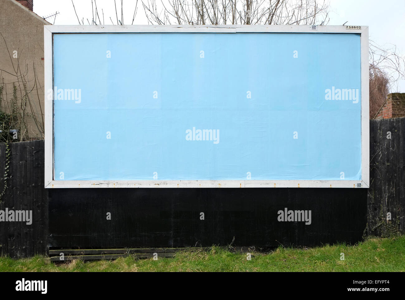 empty advertising billboard hoarding poster board display - Stock Image