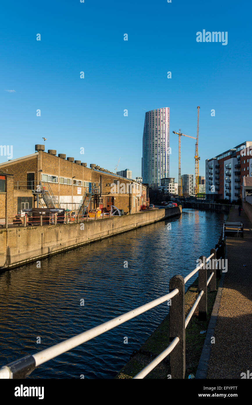 Stratford in East London was the home of the 2012 London Olympics and has seen significant redevelopment and regeneration - Stock Image