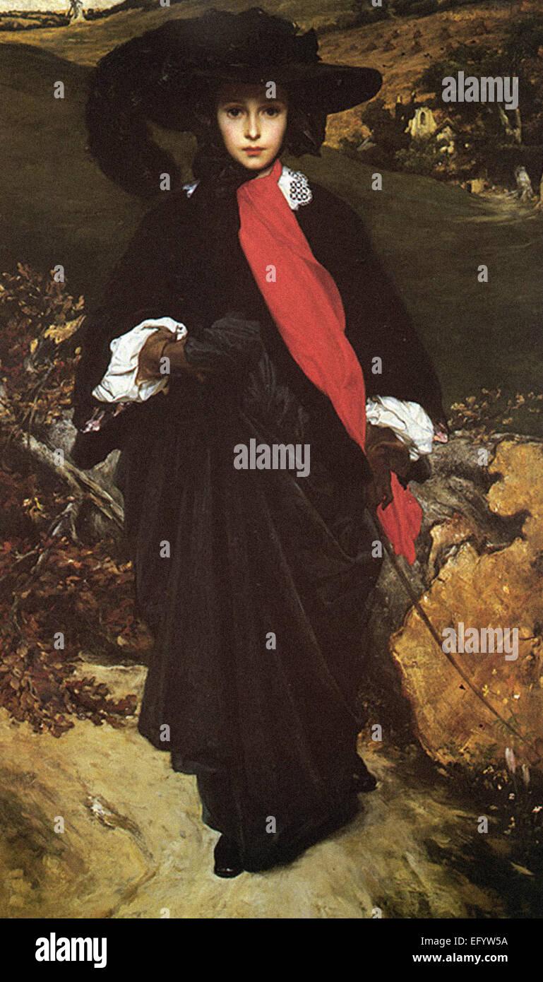 Lord Frederic Leighton  May Sartoris - Stock Image