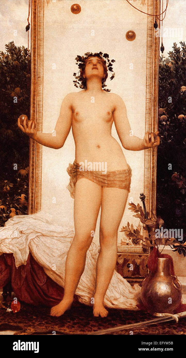Lord Frederic Leighton  The Antique Juggling Girl - Stock Image