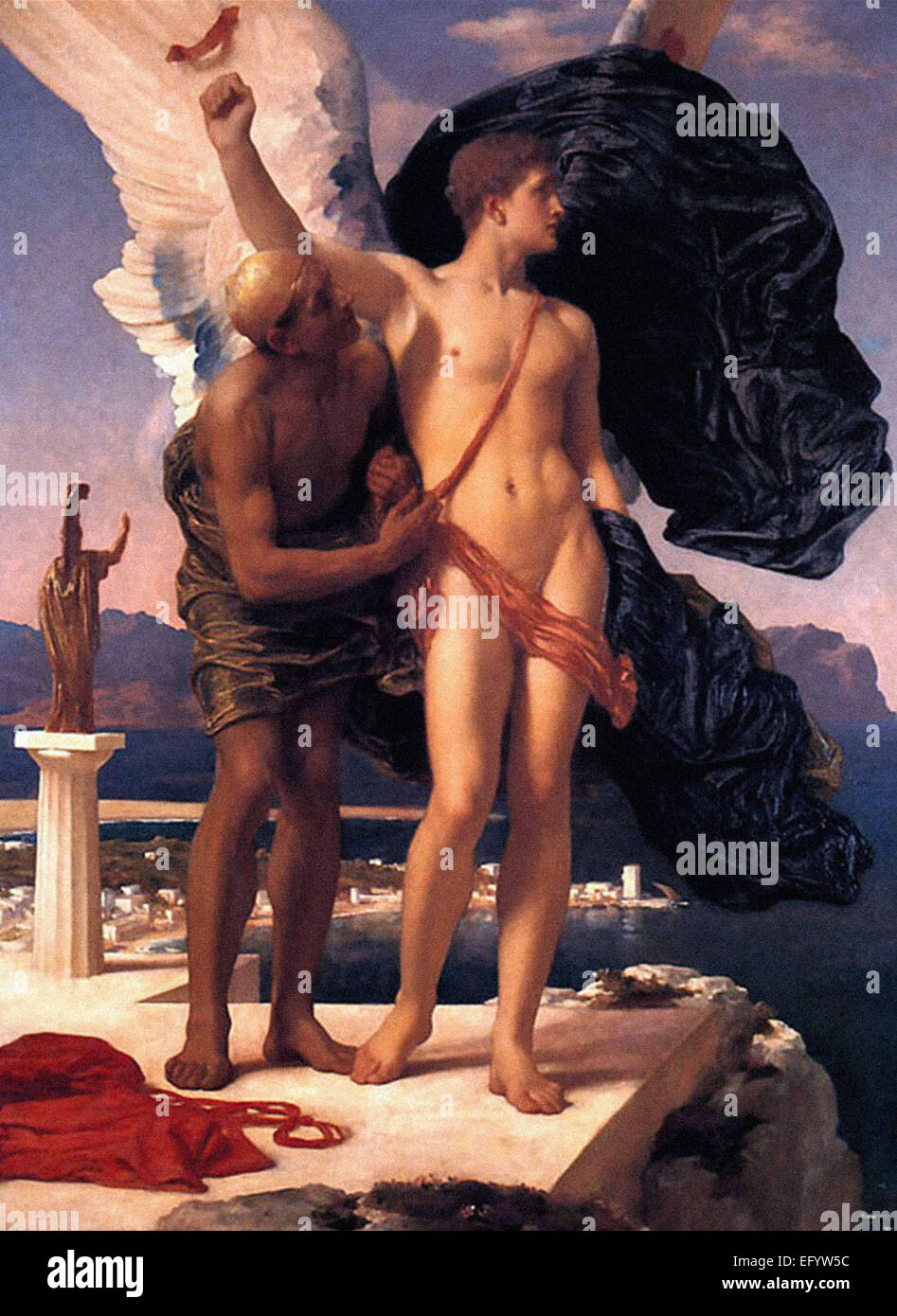 Lord Frederic Leighton  Daedalus and Icarus - Stock Image