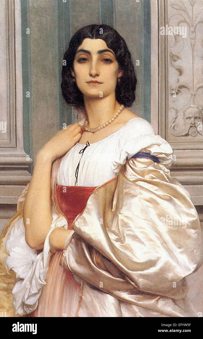 Lord Frederic Leighton  A Roman Lady - Stock Image