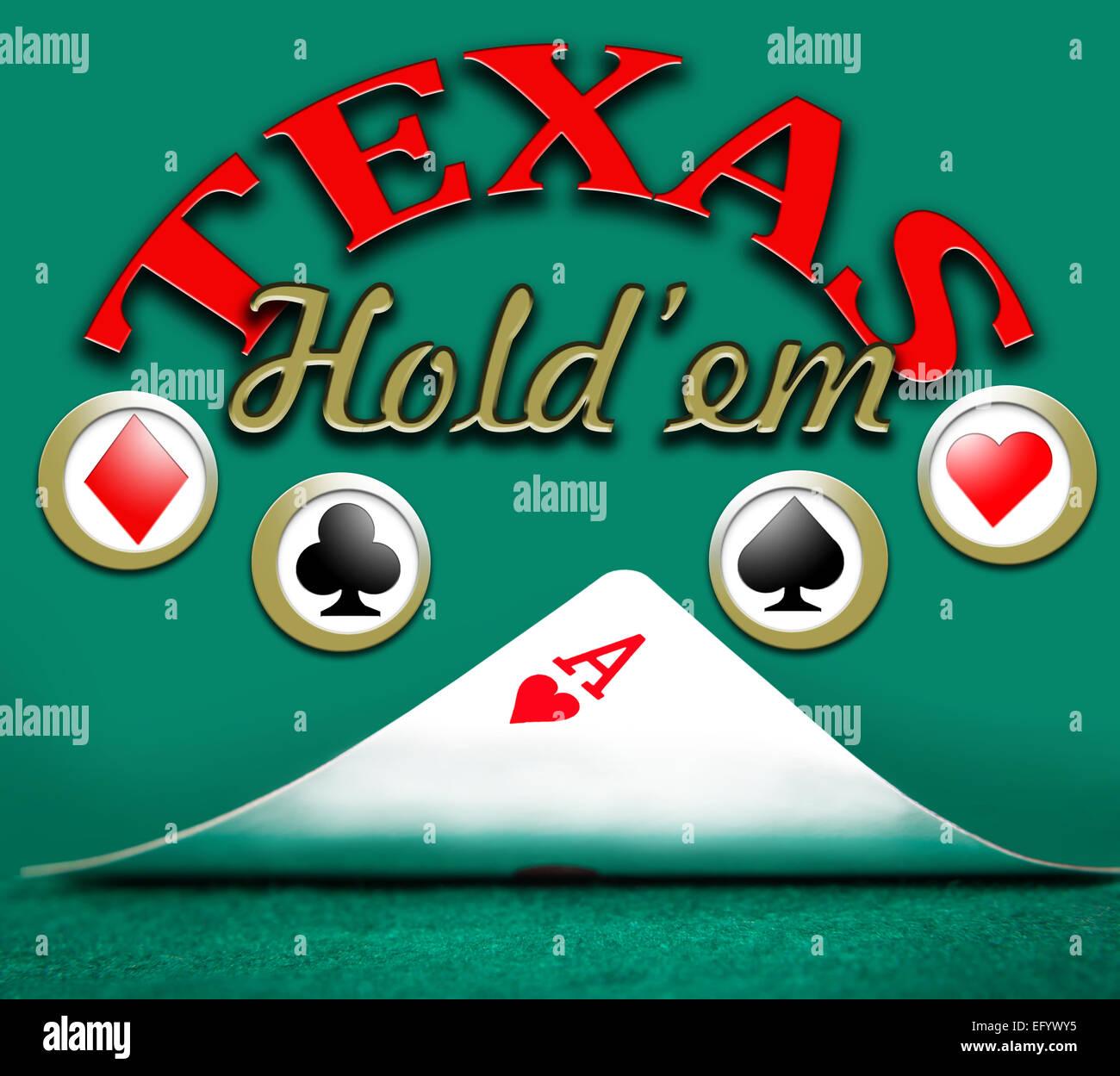poker texas holdem, gambling background - Stock Image