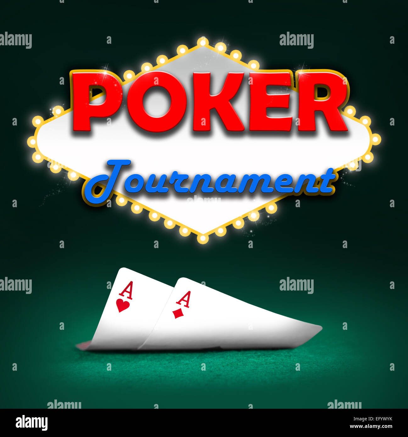 Poker tournament, gambling background color - Stock Image