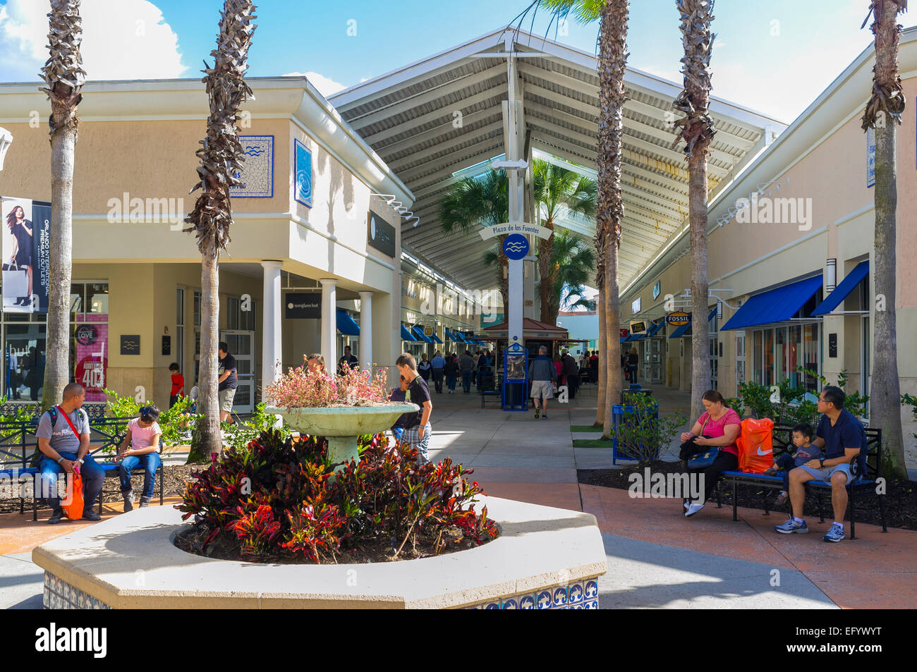 9bb166b62 Shoppers outside at the Orlando International Premium Outlets shopping Mall
