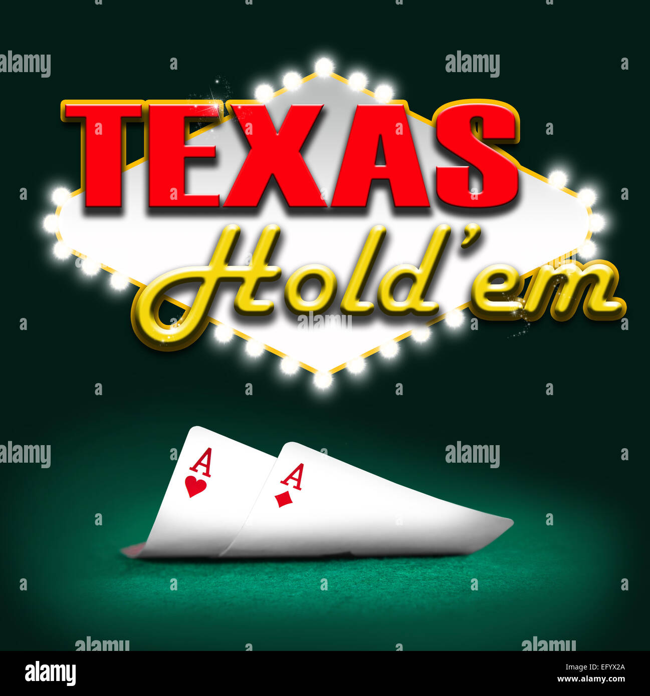 Texas hold'em, gambling background color - Stock Image
