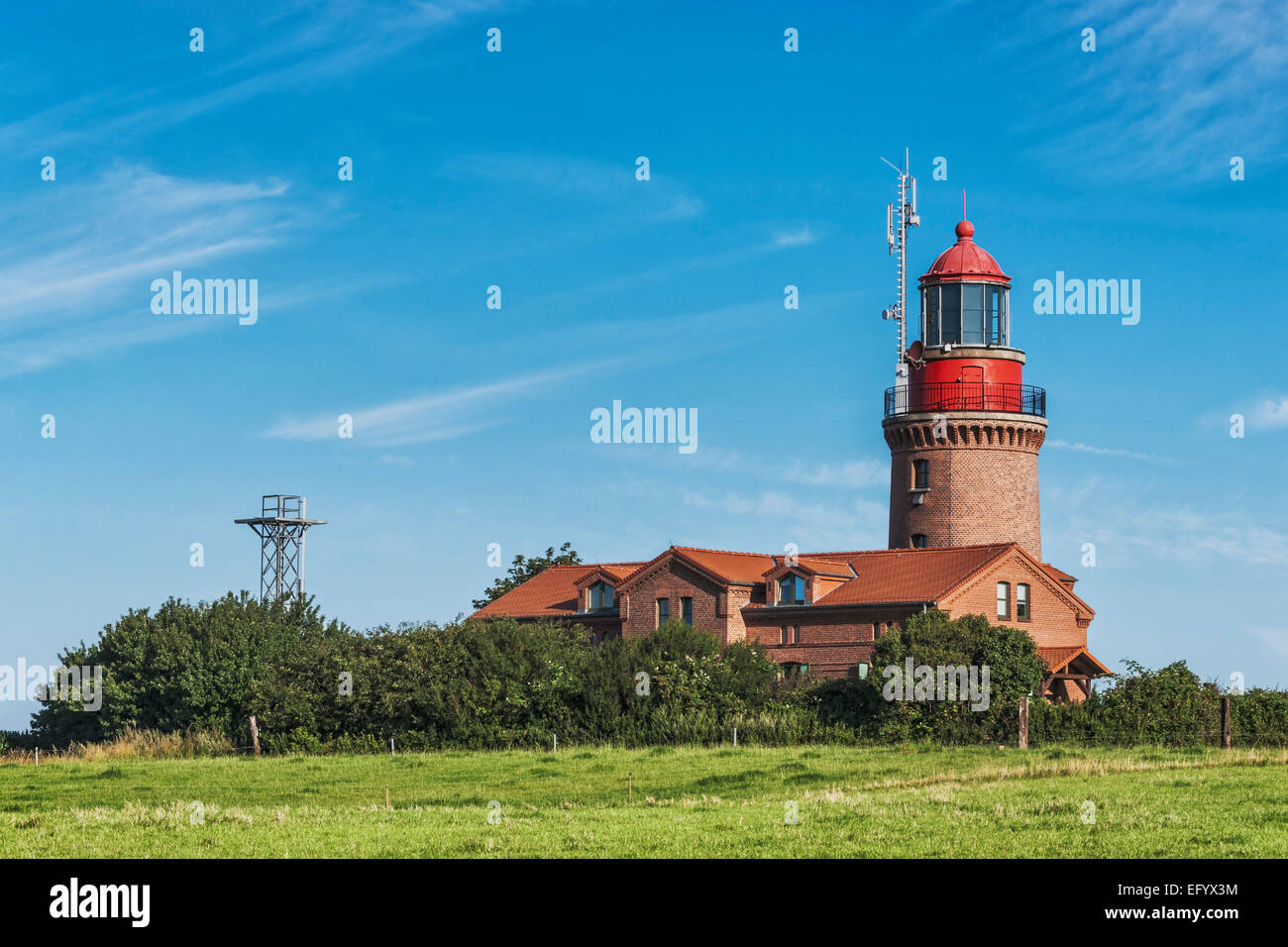 The lighthouse of Bastorf is located at the Baltic Sea, Rostock, Mecklenburg-Western Pomerania, Germany, Europe - Stock Image