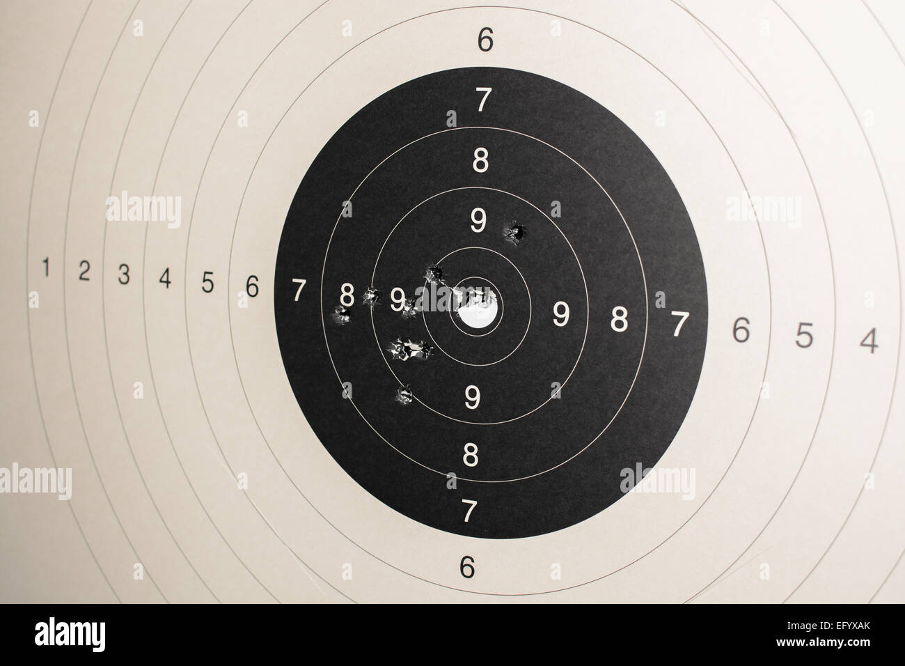 Target With Hits - Stock Image