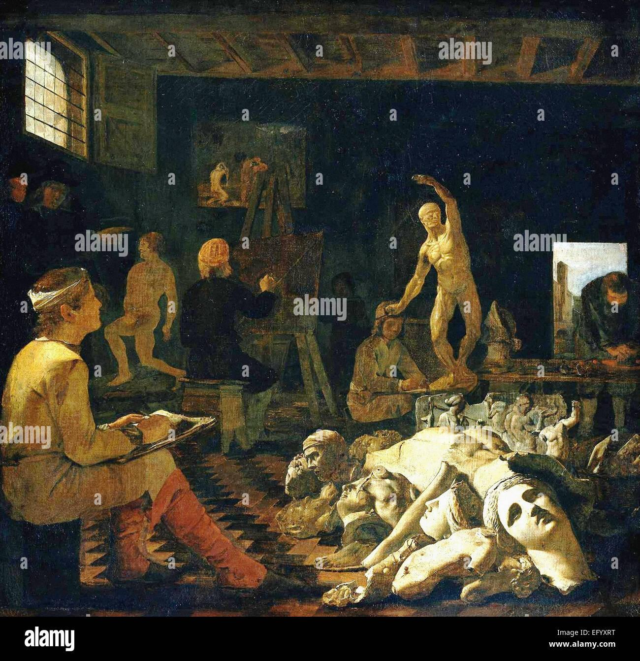 Michael Sweerts  The Painter's Studio - Stock Image