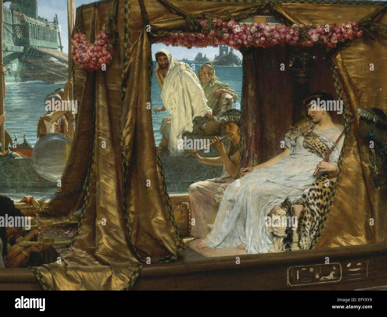 Lawrence Alma-Tadema  The Meeting of Anthony and Cleopatra - Stock Image