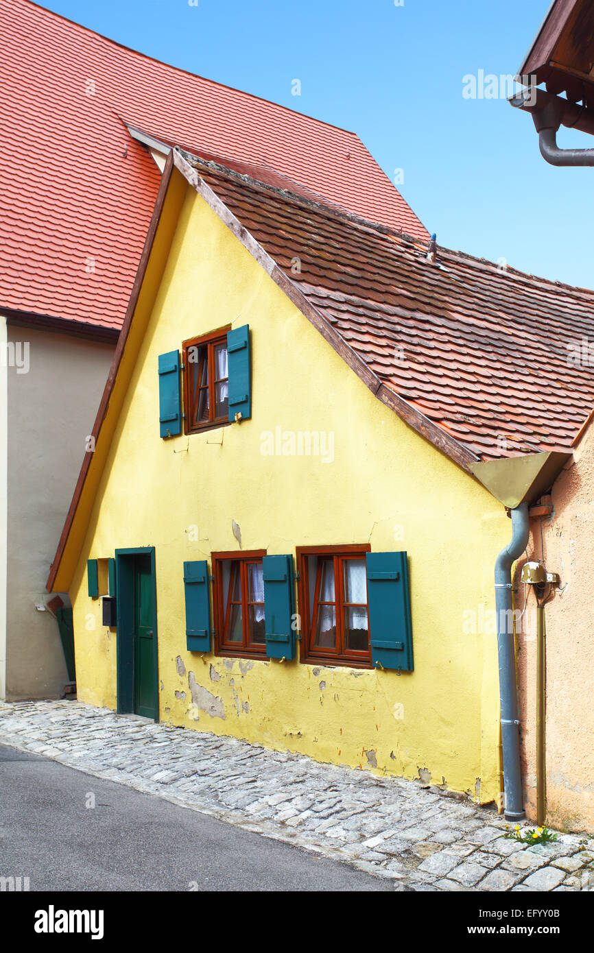 Tiny small old house in Germany - Stock Image