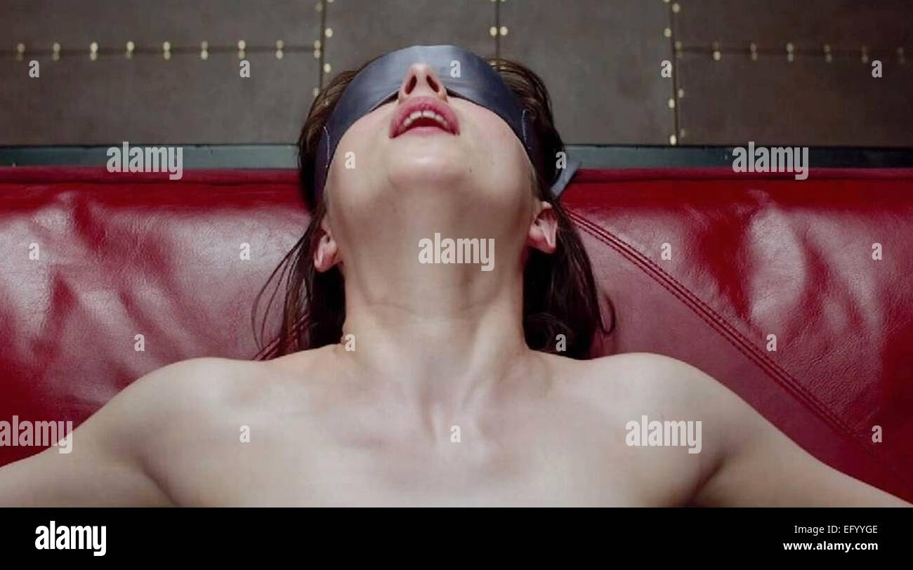 50 SHADES OF GREY 2015 Focus Features film with Dakota Johnson - Stock Image