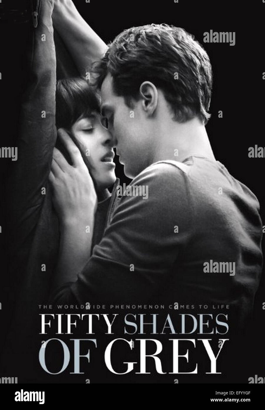 50 SHADES OF GREY  Poster for 2015 Focus Features film with Dakota Johnson and Jamie Dornan - Stock Image