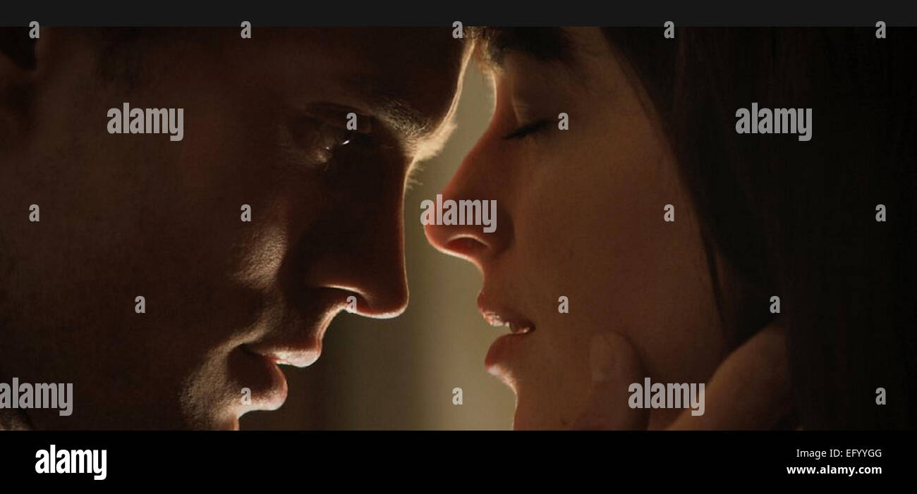 50 SHADES OF GREY 2015 Focus Features film with Dakota Johnson and Jamie Dornan - Stock Image
