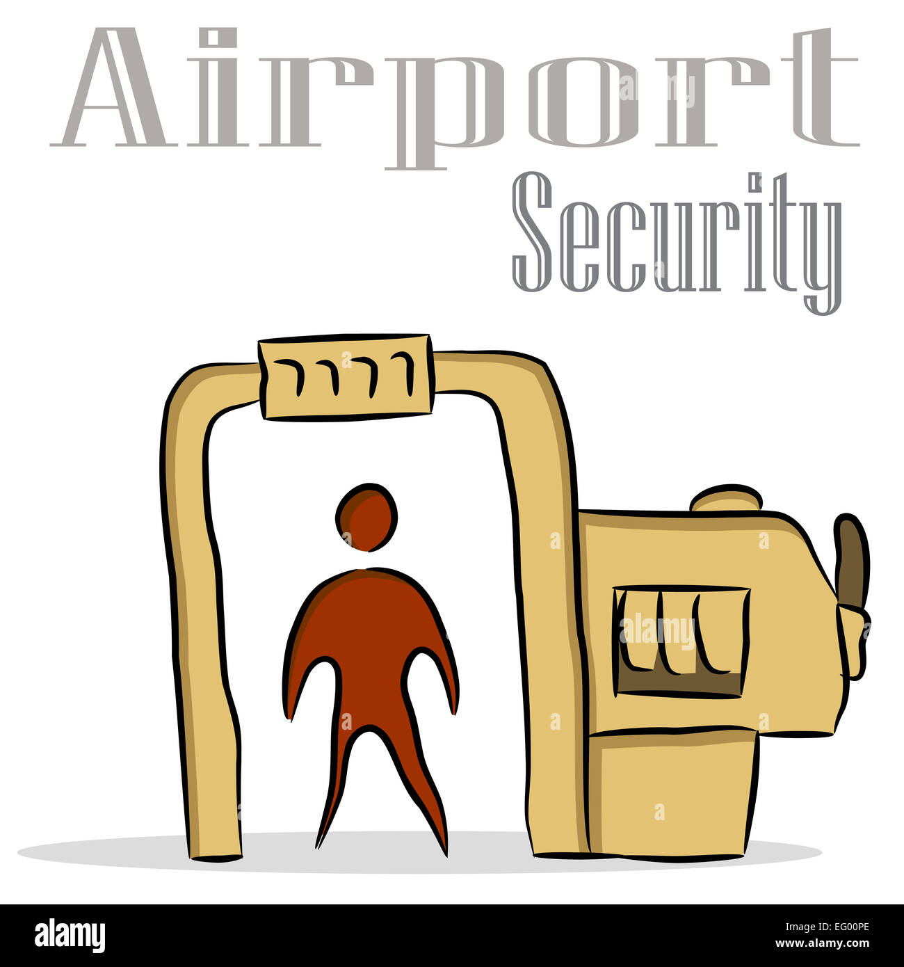 An Image Of An Airport Security Drawing Stock Photo Alamy