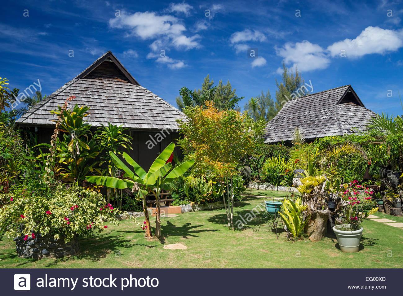 Rurutu : Manotel accomodation - French Polynesia - Stock Image