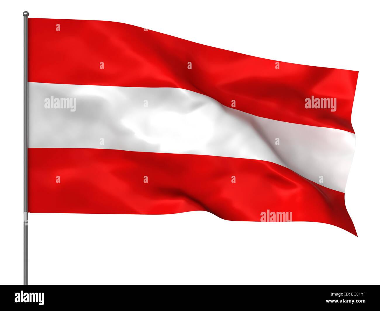 Austria Federal Small Hand Waving Flag