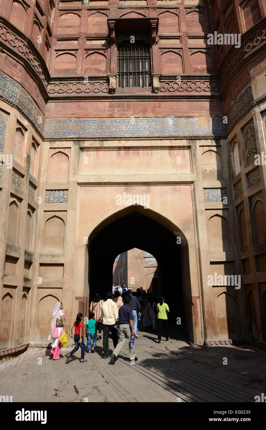 Agra fort - Stock Image