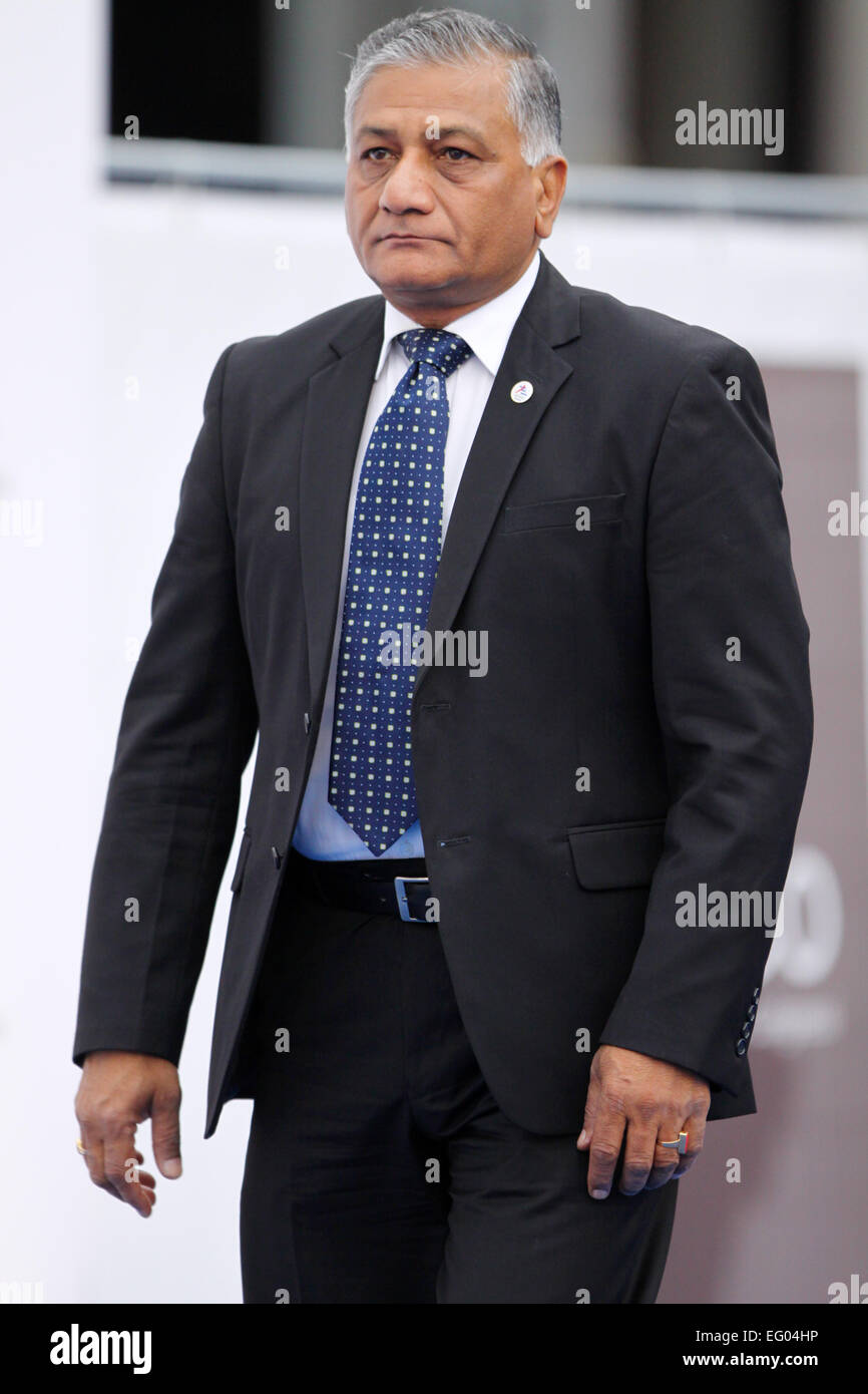 Italy, Milan:10/17/2014.Indian Minister of State for External Affairs, Vijay Kumar Singh - Stock Image